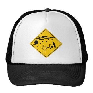 Mercancía y ropa de la advertencia del tiempo del  gorras