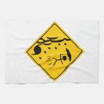 Mercancía y ropa de la advertencia del tiempo del  toallas de mano