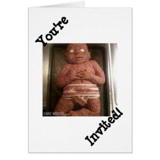 Mercancías del papel del bebé del pan con carne tarjeta de felicitación