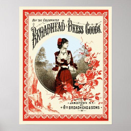 Mercancías del vestido de Broadhead Póster