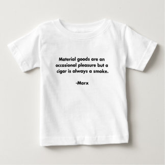 Mercancías materiales… Camiseta divertida de la Playera