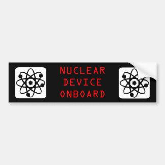 Mercancías nucleares pegatina para auto