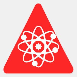 Mercancías nucleares pegatina triangular