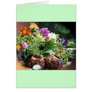 Mercancías que cultivan un huerto tarjeta pequeña