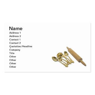 Mercancías y rodillo del oro plantilla de tarjeta de visita