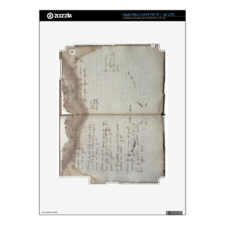 Mercantile documents, letter of acceptance of chan skin for iPad 3