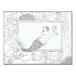 Mercat con los seahorses y las medusas invitación 10,8 x 13,9 cm