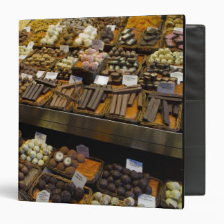 Mercat de Sant Josep, assorted chocolate candy 3 Ring Binder