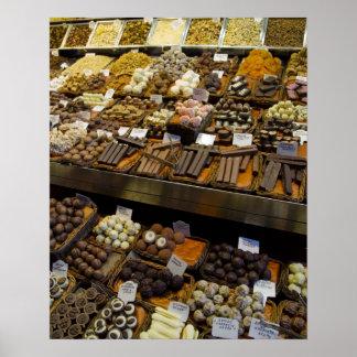 Mercat de Sant Josep, assorted chocolate candy Poster