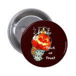 Mercat with pumpkin button
