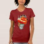 Mercat with pumpkin tee shirt