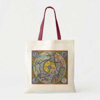 Mercator North Pole Budget Tote Canvas Bags