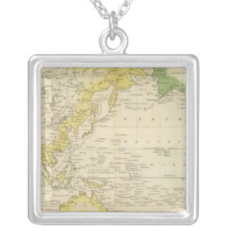 Mercator's Chart 2 Silver Plated Necklace