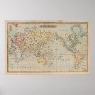 Mercator's Chart Poster