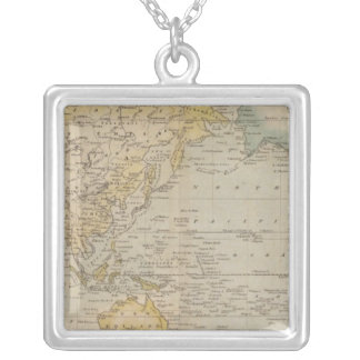 Mercator's Chart Silver Plated Necklace