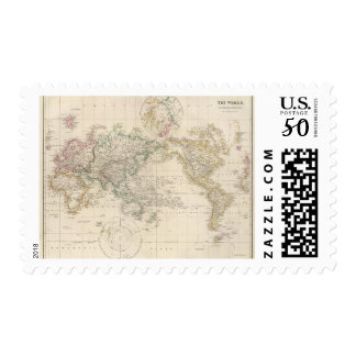 Mercators Projection of the world Postage