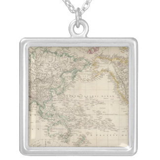 Mercators Projection of the world Silver Plated Necklace