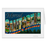 Merced, California - Large Letter Scenes Card