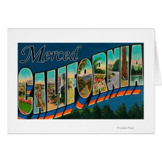 Merced California - Large Letter Scenes Card