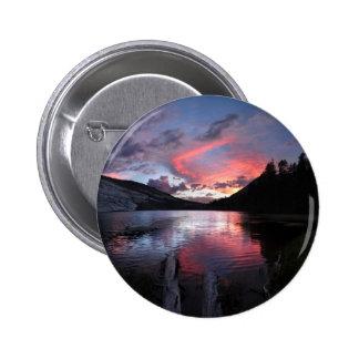 Merced lake Sunset - Yosemite - California Pinback Button