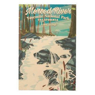 Merced River California travel poster