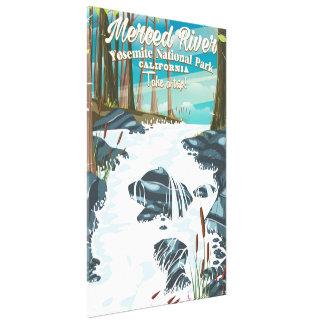 Merced River California travel poster Canvas Print