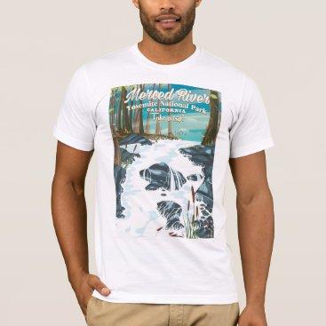 bartonleclaydesign Merced River California travel poster T-Shirt
