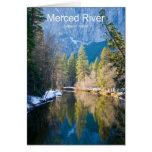 Merced River January Yosemite California Products Greeting Card