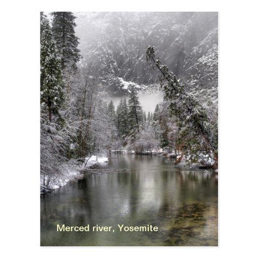 Merced river, Yosemite Post Card