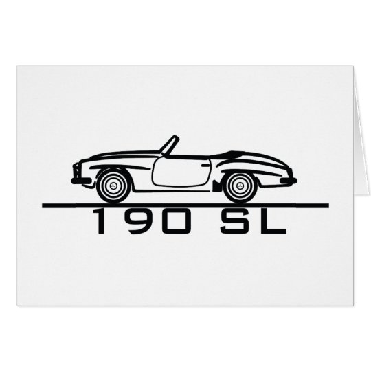 Mercedes 190 SL Type 121 Card