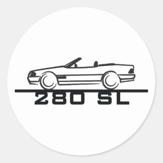 Mercedes 280 SL Type 129 Classic Round Sticker