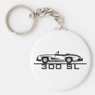 Mercedes 300 SL Cabrio Llavero Redondo Tipo Pin