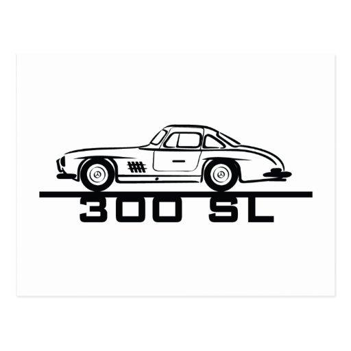 Mercedes 300 SL Gullwing Postcard