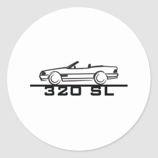 Mercedes 320 SL Type 129 Classic Round Sticker