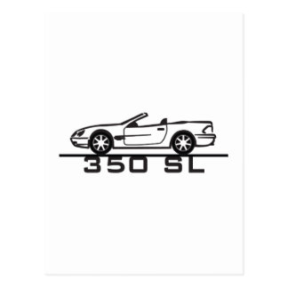 Mercedes 350 SL Type 230 Postcard