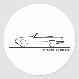 Mercedes 450 SL Type 107 Classic Round Sticker