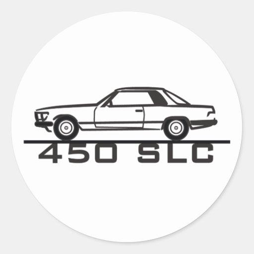 Mercedes 450 SLC 107 Classic Round Sticker