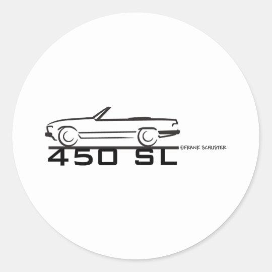 Mercedes 450SL Classic Round Sticker
