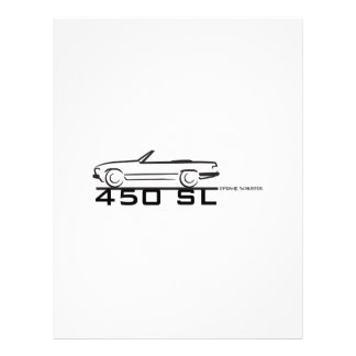 Mercedes 450SL Plantilla De Membrete