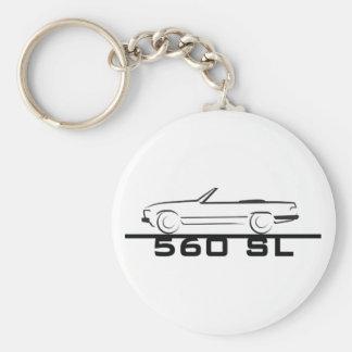 Mercedes 560 SL Type 107 Basic Round Button Keychain