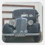 Mercedes antigua calcomanía cuadradas personalizada