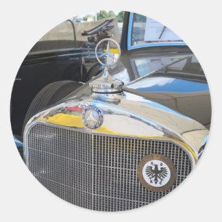 Mercedes-Benz 260D. World's  first diesel car. Classic Round Sticker