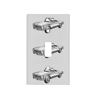 Mercedes Benz 280 SL Convertible Car Illustration Light Switch Cover
