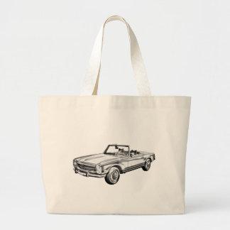 Mercedes Benz 280 SL Convertible Illustration Bags