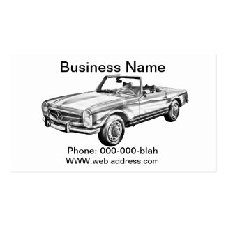 Mercedes Benz 280 SL Convertible Illustration Business Cards