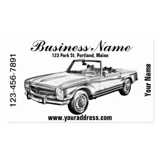 Mercedes Benz 280 SL Convertible Illustration Business Card Templates