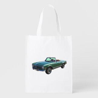 Mercedes Benz 280 SL Convertible Reusable Grocery Bag
