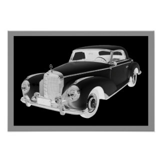Mercedes Benz 300 Luxury Car Art Poster