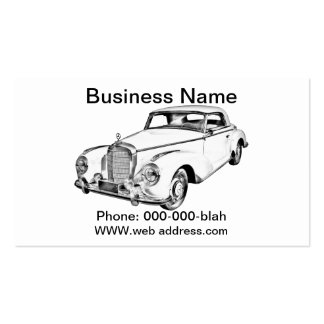 Mercedes Benz 300 Luxury Car Digital Drawing Business Card Template