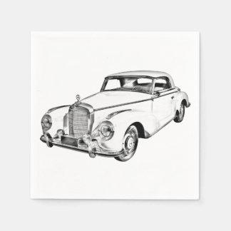 Mercedes Benz 300 Luxury Car Digital Drawing Disposable Napkins